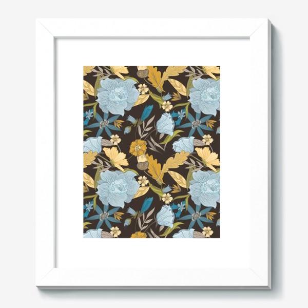 Картина «Винтажный осенний цветочный узор»