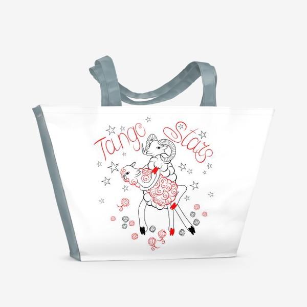 Пляжная сумка «TANGO STARS на белом»