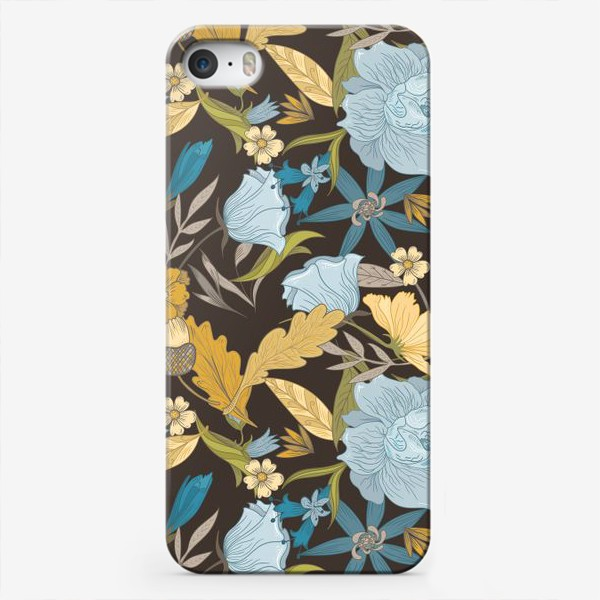 Чехол iPhone «Винтажный осенний цветочный узор»