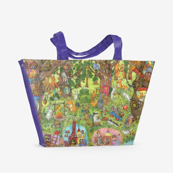 Пляжная сумка «Лес чудес лето»