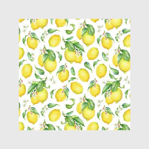 Скатерть «Паттерн с лимонами светлый»