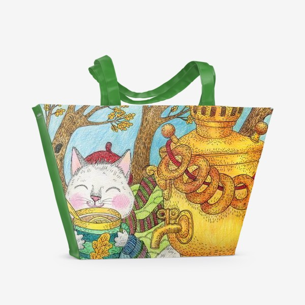 Пляжная сумка «Чаепитие в ветреный день»