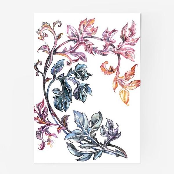 Постер «Узорные листья»