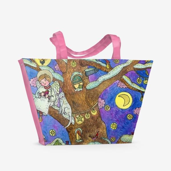 Пляжная сумка «Рождество. Добрый ангел»