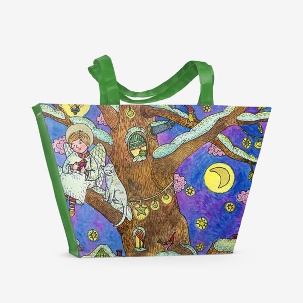 Пляжная сумка «С Новым годом и Рождеством!  Добрый ангел»