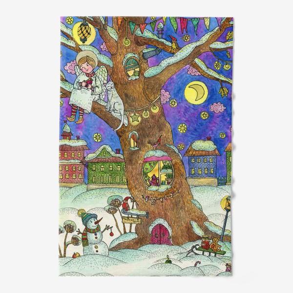 Полотенце «С Новым годом и Рождеством!  Добрый ангел»