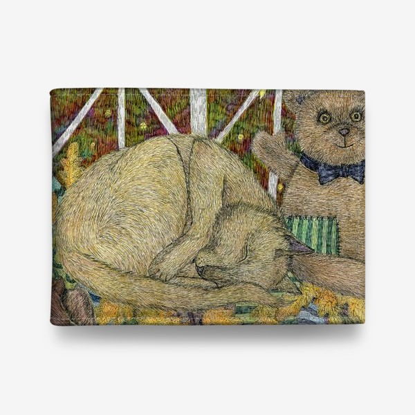 Кошелек «Кот и мишка тедди»