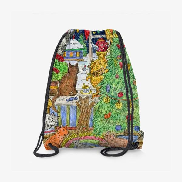 Рюкзак «Новый год в избушке»