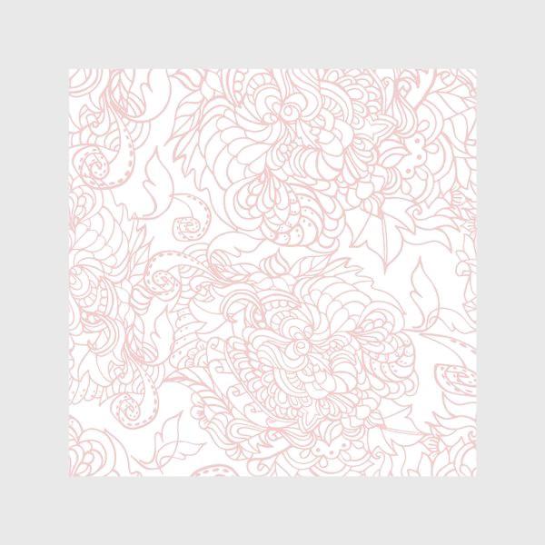 Скатерть «Розовый узор на белом фоне»