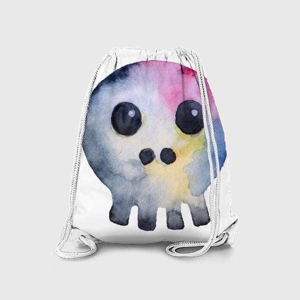 Рюкзак «Watercolor skull. Multicolor and cartoonish style.»