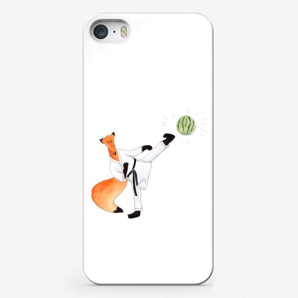 Чехол iPhone «Карате. Черный пояс по решению проблем!»