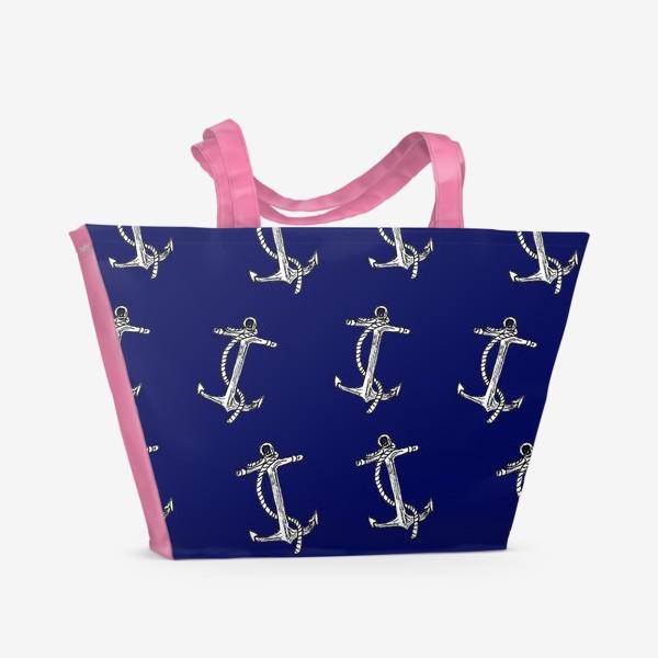 Пляжная сумка «Якоря»