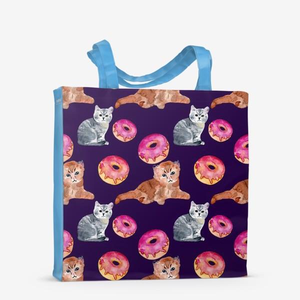 Сумка-шоппер «котята и пончик»