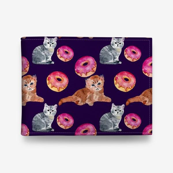 Кошелек «котята и пончик»