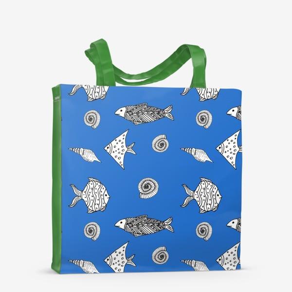 Сумка-шоппер «Рыбы и ракушки»