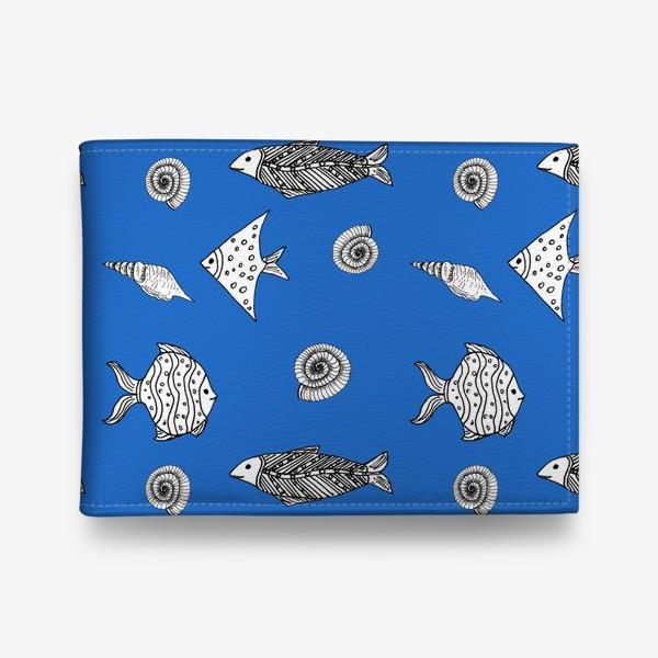 Кошелек «Рыбы и ракушки»