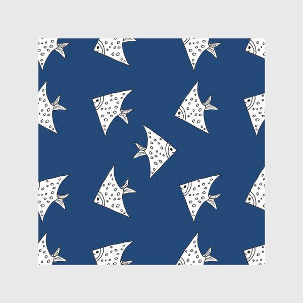 Скатерть «Рыбы на синем фоне»