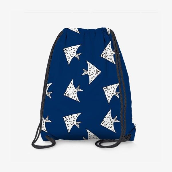 Рюкзак «Рыбы на синем фоне»