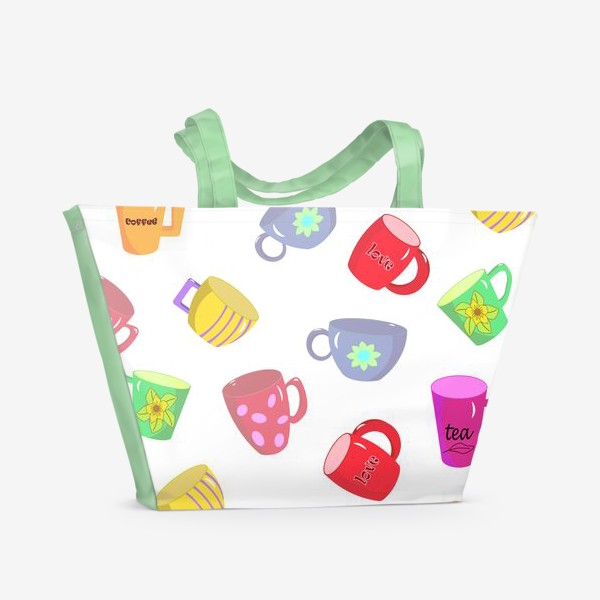 Пляжная сумка «Чашки»