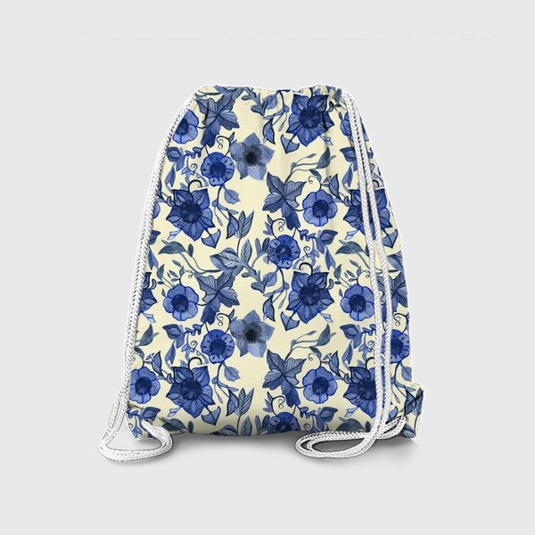 Рюкзак «голубые цветы»