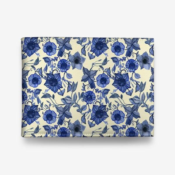 Кошелек «голубые цветы»