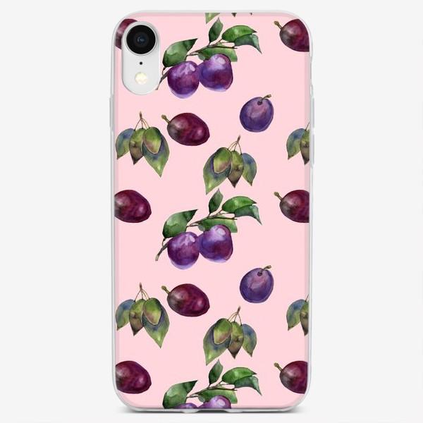 Чехол iPhone «вкусные сливы»