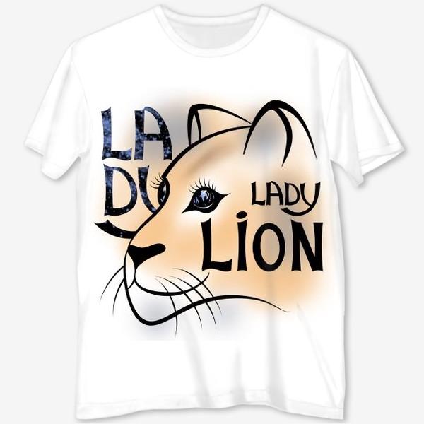 Футболка с полной запечаткой «LADY LION»