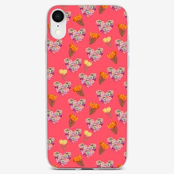 Чехол iPhone «сердце из роз»