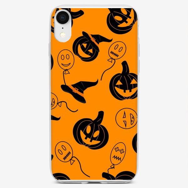 Чехол iPhone «Хэллоуин. орнажевый фон»