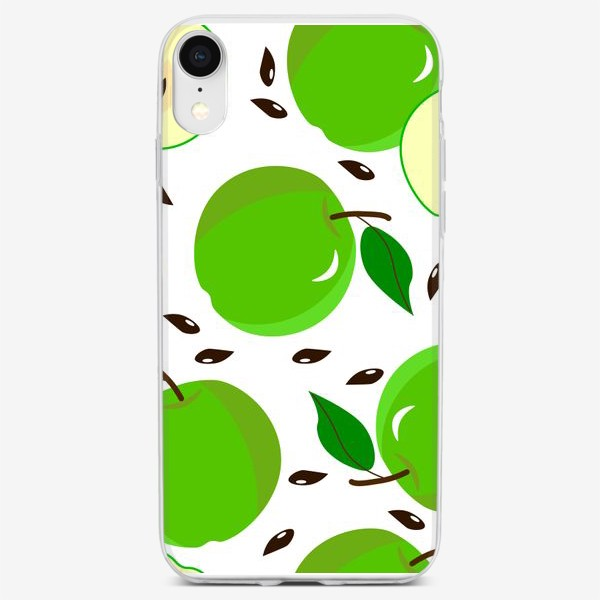 Чехол iPhone «Зеленые  яблоки»