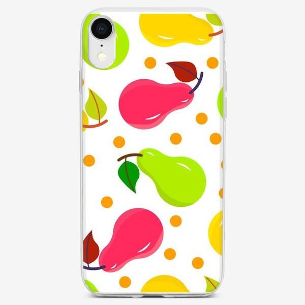 Чехол iPhone «Разноцветные груши»