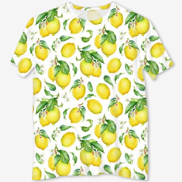 Футболка с полной запечаткой «Паттерн с лимонами светлый»