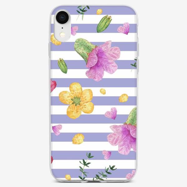 Чехол iPhone «Лесные цветы: медуница и лютик»