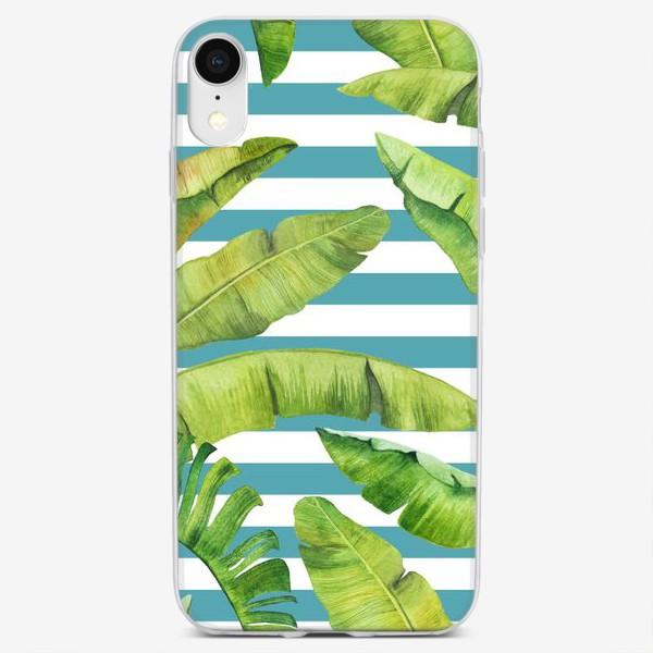 Чехол iPhone «Бананы и полоски»