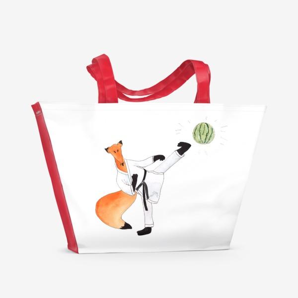 Пляжная сумка «Карате. Черный пояс по решению проблем!»