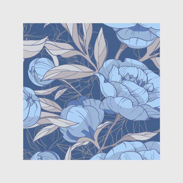 Скатерть «Голубые пионы»