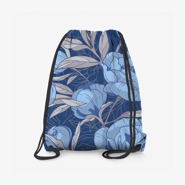 Рюкзак «Голубые пионы»