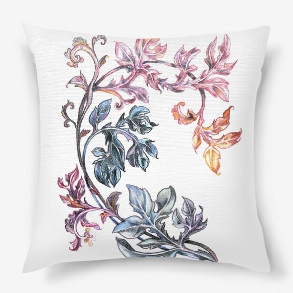 Подушка «Узорные листья»