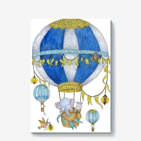 Холст «Путешествие на воздушном шаре»
