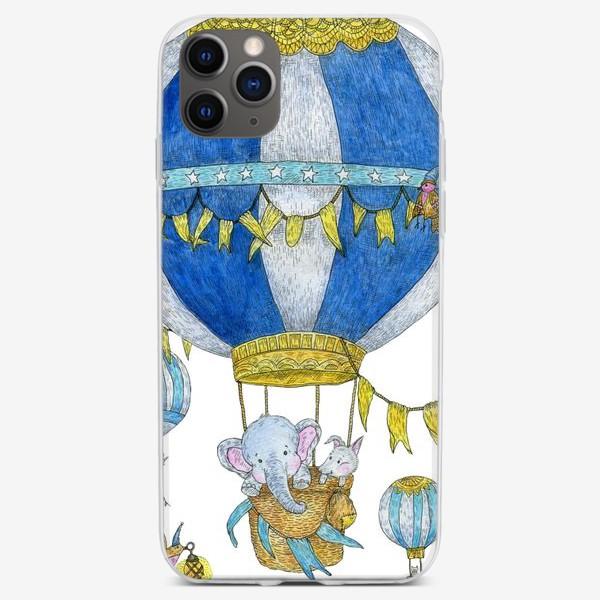 Чехол iPhone «Путешествие на воздушном шаре»