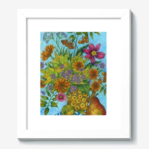 Картина «Яркий букет цветов и листьев»