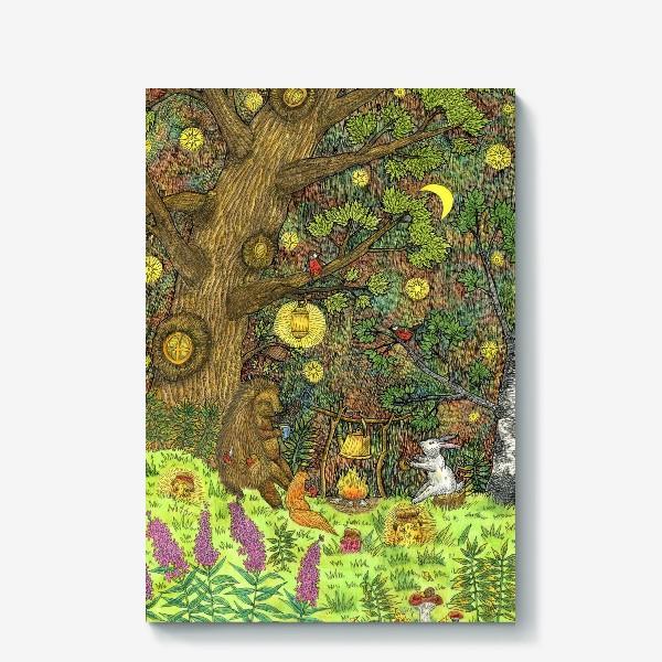 Холст «Привал в лесу»
