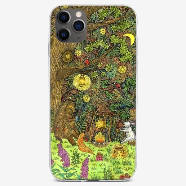Чехол iPhone «Привал в лесу»
