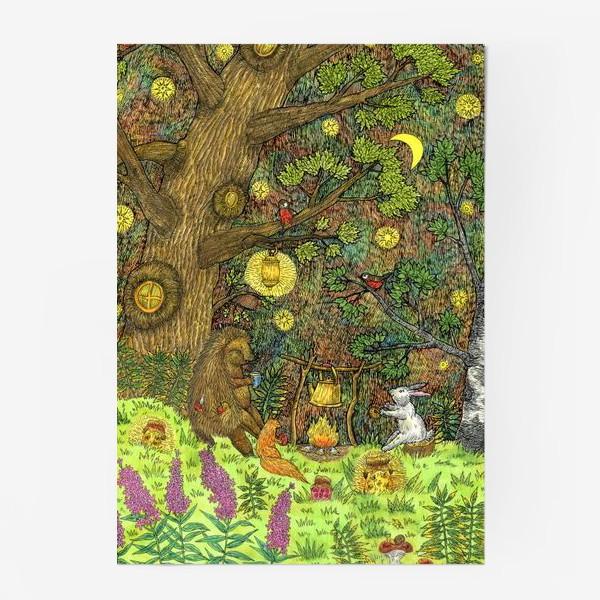 Постер «Привал в лесу»