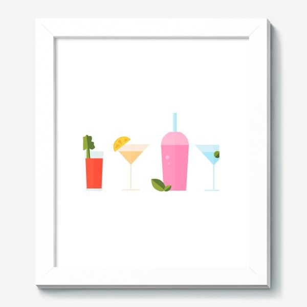 Картина «Летний коктейль сет. Яркие сочные напитки»