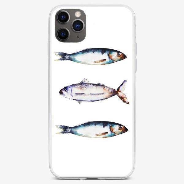 Чехол iPhone «Акварельные рыбки»