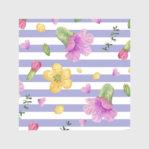 Скатерть «Лесные цветы: медуница и лютик»