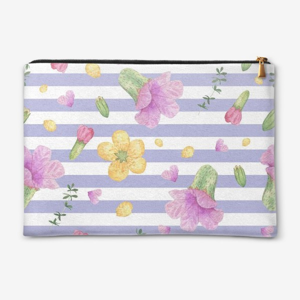 Косметичка «Лесные цветы: медуница и лютик»