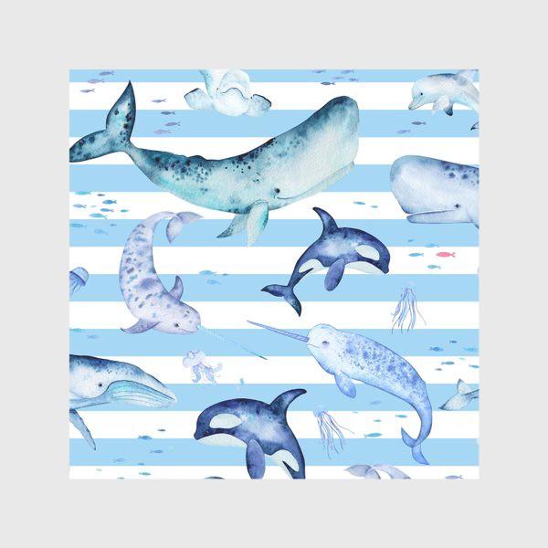 Скатерть «Киты в полосатом море»
