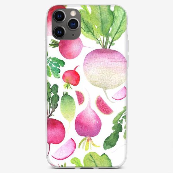 Чехол iPhone «Редисочки на белом»